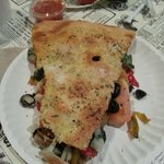 Milano's Stuffed Pizza - slice of heaven on a paper plate