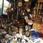 A shop at the Sunday flea market