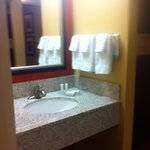 Sink outside the bathroom