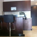 Within the room - the minibar, kitchen area