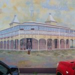 Denison Hotel Historic Mural on side wall