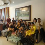 Everyone in the lobby on our last day in Hanoi