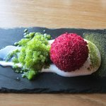 Beetroot with granita