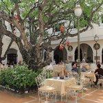 Breakfast courtyard