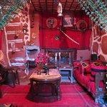 A small lounge area