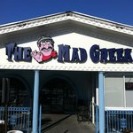 slow down on East Broad St. to find the Mad Greek