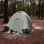 Out tent after the fantastic thunder/hail storm.