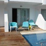 terrasse chambre swim up