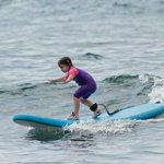 Happy 4 year-old new surfer!!