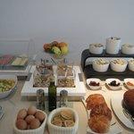 Healthy breakfast buffet.