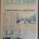 Probably hard to read but an interesting article about the hotel posted in the lobby