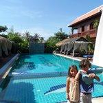 Lovely poolside