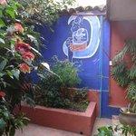 Qhia, courtyard