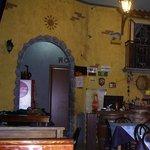 Restaurant interiors close to the bar