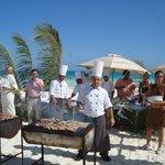 grigliata di pesce in spiaggia