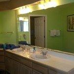 First Bedroom Vanity Area leading to Bathroom