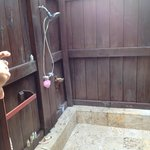 The outdoor shower, incredible