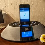 This nice JBL docking station allows you to play your own music from your iPod or iPhone. Very n