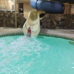 Great slide in a small, easy to supervise indoor pool area