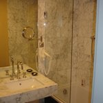 Bathroom- Very Well Furnished in Marble + Excellent Shower!