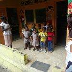 Bike Tour meets lovely Jamaican Kids