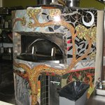 Artfully decorated oven at Bella Luca Restaurant