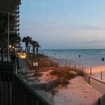View up the beach from our Wrap Condo