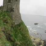 Part of the castle overlooking the sea