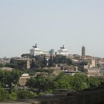 view from the top of aventine hill, very short walk from hotel