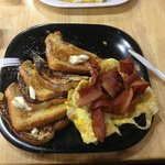 french toast with eggs and bacon mmmmm
