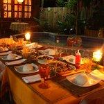 Dining set-up outside