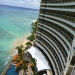 Oceanfront of hotel