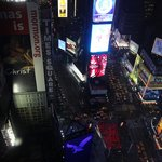 View of Time Square from Room 3321