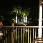 Hotel grounds at night from Tamarindo Restaurant