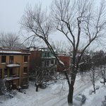 Winter view of Avenue Laval from Champlain room