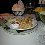 calamari and rock shrimp appetizer