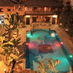 hotel manaslu have enjoying swimming pool.