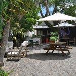 relaxed beer garden
