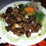 Smoked pork dry chilli fry with dry bamboo shoot!!!