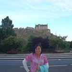 Edinburgh castle is just down the road