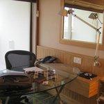 working desk in the room