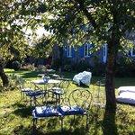 Salon de détente dans le jardin