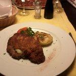 Cordon bleu with potato gratin ... small