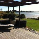 Breakfast on the deck of Te Koi, bliss!!