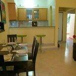 Livingroom/dining area in apartment