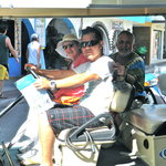 rent a golf cart to see more of the island