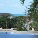 view from Royalton lobby towards beach