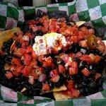 Black bean nachos.