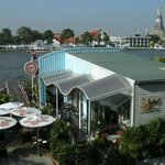 Morning View of Wat Arun from Vivi The Coffee Place