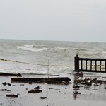 Damaged property due to high tide